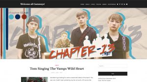 wordpress theme for chapter 13 fan site